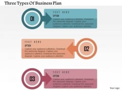 Three Types Of Business Plan Presentation Template