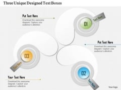 Three Unique Designed Text Boxes Presentation Template