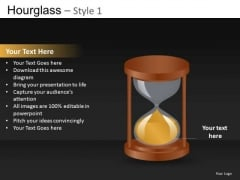Time Out Hourglass PowerPoint Editable Ppt Slides