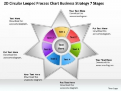 Timeline 2d Circular Looped Process Chart Business Strategy 7 Stages