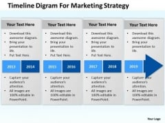Timeline Digram For Marketing Strategy Ppt Develop Business Plan PowerPoint Slides
