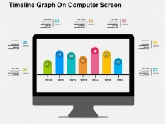 Timeline Graph On Computer Screen PowerPoint Template