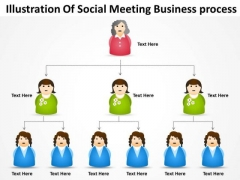 Timeline Illustration Of Social Meeting Business Process