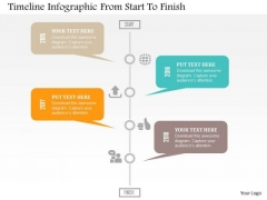 Timeline Infographic From Start To Finish Presentation Template