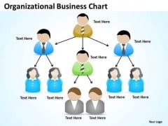 Timeline Organizational Business Chart