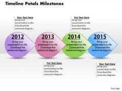 Timeline Petals Milestones PowerPoint Presentation Template