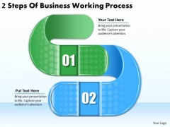 Timeline PowerPoint Template 2 Steps Of Business Working Process