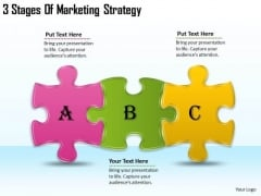 Timeline PowerPoint Template 3 Stages Of Marketing Strategy