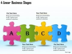 Timeline PowerPoint Template 4 Linear Business Stages