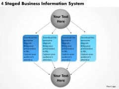 Timeline PowerPoint Template 4 Staged Business Information System