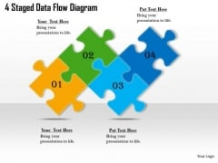 Timeline PowerPoint Template 4 Staged Data Flow Diagram