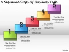 Timeline PowerPoint Template 5 Sequence Steps Of Business Task