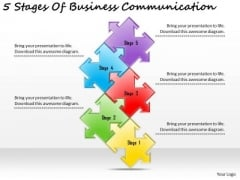 Timeline PowerPoint Template 5 Stages Of Business Communication