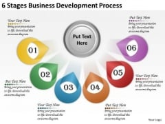 Timeline PowerPoint Template 6 Stages Business Development Process