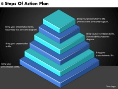 Timeline PowerPoint Template 6 Steps Of Action Plan