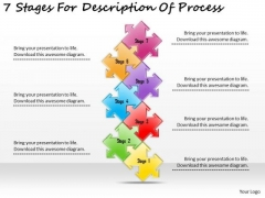 Timeline PowerPoint Template 7 Stages For Description Of Process