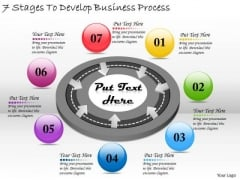 Timeline PowerPoint Template 7 Stages To Develop Business Process