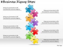 Timeline PowerPoint Template 8 Business Zigzag Steps