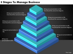 Timeline PowerPoint Template 8 Stages To Manage Business