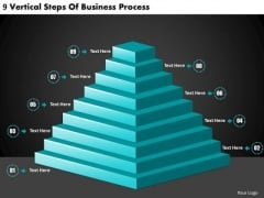 Timeline PowerPoint Template 9 Vertical Steps Of Business Process