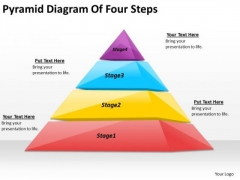 Timeline PowerPoint Template Pyramid Diagram Of Four Steps