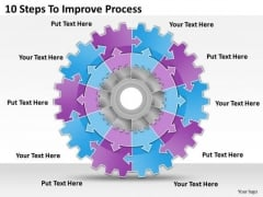 Timeline Ppt Template 10 Steps To Improve Process
