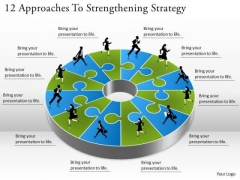 Timeline Ppt Template 12 Approaches To Strengthening Strategy