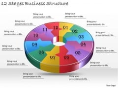 Timeline Ppt Template 12 Stages Business Structure
