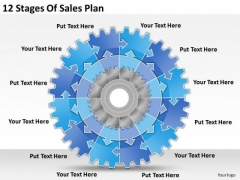 Timeline Ppt Template 12 Stages Of Sales Plan