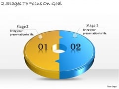 Timeline Ppt Template 2 Stages To Focus On Goal