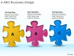 Timeline Ppt Template 3 Abc Business Stages