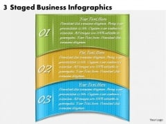 Timeline Ppt Template 3 Staged Business Infographics