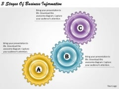 Timeline Ppt Template 3 Stages Of Business Information
