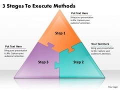 Timeline Ppt Template 3 Stages To Execute Methods