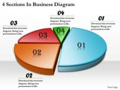 Timeline Ppt Template 4 Sections In Business Diagram