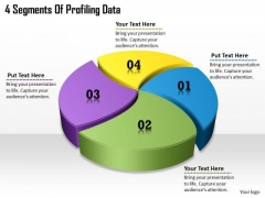 Timeline Ppt Template 4 Segments Of Profiling Data