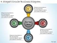Timeline Ppt Template 4 Staged Circular Business Diagram
