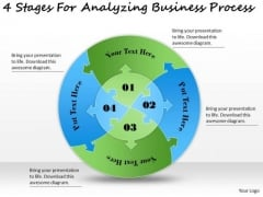 Timeline Ppt Template 4 Stages For Analyzing Business Process