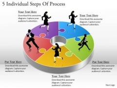 Timeline Ppt Template 5 Individual Steps Of Process