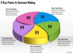 Timeline Ppt Template 5 Key Points In Decision Making