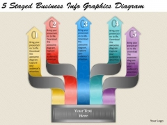 Timeline Ppt Template 5 Staged Business Info Graphics Diagram