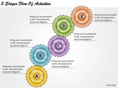 Timeline Ppt Template 5 Stages Flow Of Activities