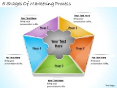 Timeline Ppt Template 5 Stages Of Marketing Process
