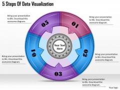 Timeline Ppt Template 5 Steps Of Data Visualization