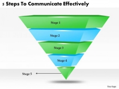 Timeline Ppt Template 5 Steps To Communicate Effectively