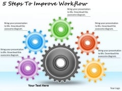 Timeline Ppt Template 5 Steps To Improve Workflow