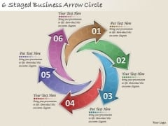 Timeline Ppt Template 6 Staged Business Arrow Circle