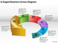 Timeline Ppt Template 6 Staged Business Arrow Diagram