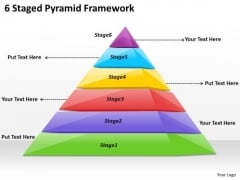 Timeline Ppt Template 6 Staged Pyramid Framework