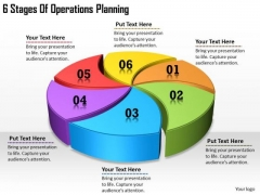 Timeline Ppt Template 6 Stages Of Operations Planning
